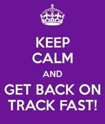 Keep calm on track
