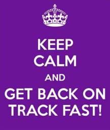 Keep calm on track